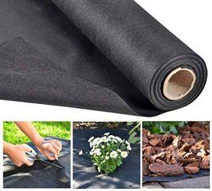 0,9x 15m 60g/m² Noir anti-mauvaises herbes en non-tissé pour jardin jardin non-tissé de la marque Haushalt International image 0 produit