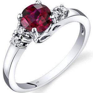 14ct Revoni or blanc diamant Créé Ruby Solstice Anneau de la marque Revoni image 0 produit