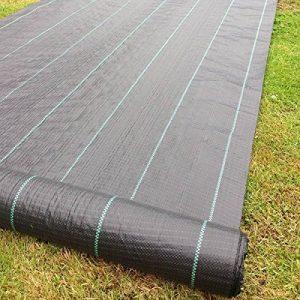 1m X 50m Tissu des mauvaises herbes, la couverture du sol, la membrane de jardin 100gsm de la marque Yuzet image 0 produit