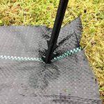 1m X 50m Tissu des mauvaises herbes, la couverture du sol, la membrane de jardin 100gsm de la marque Yuzet image 3 produit