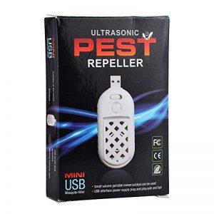 1Paquet, WM Portable Indoor & Outdoor USB Insect électronique répulsif, ultrasons antiparasite, tueur de moustique Sz-01 de la marque MW image 0 produit