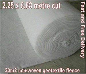 2.25m x 8.88m en polaire Geo Membrane géotextile non tissé Membrane Puisard Caisse Wrap–20M2 de la marque Spudulica image 0 produit