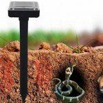 2 Pcs Solar Mole Repeller, Ultrasonic Electronic Drive Away Mole Rat Deterrent Mouse Snake Insect Repel Equipment pour Jardin de jardin extérieur, zone efficace d'environ 300 mètres carrés de la marque FUSKANG image 1 produit