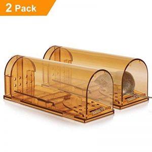 2 x Vensmile Souricière Piège à souris en direct Répulsor Contrôle de la souris peut tuer sans cruauté à rat Cage de la marque Vensmile image 0 produit