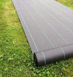 2m x 50m Tissu des mauvaises herbes, la couverture du sol, la membrane de jardin 100gsm de la marque Yuzet image 0 produit