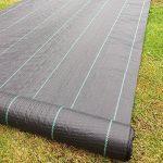 2m x 50m Tissu des mauvaises herbes, la couverture du sol, la membrane de jardin 100gsm de la marque Yuzet image 2 produit
