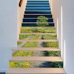 3D Auto-Adhésif Escalier Stickers Muraux Creative Décoratifs Stickers DIY Art Mural Amovible Escaliers PVC Étanche Papier Peint Pour Salon Décoration Vert Herbe Autocollants D'escalier,100*18cm*13pcs de la marque CHBB image 3 produit