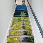 3D Auto-Adhésif Escalier Stickers Muraux Creative Décoratifs Stickers DIY Art Mural Amovible Escaliers PVC Étanche Papier Peint Pour Salon Décoration Vert Herbe Autocollants D'escalier,100*18cm*13pcs de la marque CHBB image 4 produit