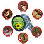 4.8cm*106,7 m Préserve toutes les oiseaux loin de votre Propriété Répulsif Scare ruban adhésif double face Bande réfléchissante – efficace pour pigeons, pivert de la marque RUNFON image 1 produit