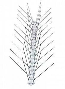 5 mètres de pics antipigeons 4 rangéess en acier inox. Garantie 10 ans - FRANCE de la marque OLDISER image 0 produit