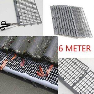 6m feuilles Protection/Protection de gouttière en gris, montage Clip & lien Compartiment marché qualité professionnelle de la marque Powerpreise24 image 0 produit