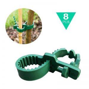 8 pcs 24cm Heavy Duty en caoutchouc souple Plante Arbre Sangles réglables Interlock Jardin Attaches pour arbuste Rose Plante Arbre support de la marque KINGLAKE image 0 produit