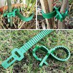 8 pcs 24cm Heavy Duty en caoutchouc souple Plante Arbre Sangles réglables Interlock Jardin Attaches pour arbuste Rose Plante Arbre support de la marque KINGLAKE image 2 produit