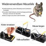 8 x piège à souris Mitavo, durée de vie élevée, sans poison, piège robuste réutilisable, souris piege de la marque Mitavo image 3 produit
