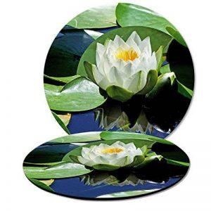 """'ADDIES Lot de 2dessous de pot de fleurs Motif de 1""""Géranium, 19cm de diamètre dans un beau bedruckten Motif avec tapis caoutchouc pour fleurs et plantes de qualité professionnelle laminé de la marque ADDIES image 0 produit"""