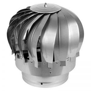 AHHC Chapeau de Cheminée Extracteur de fumées rotatif éolien en acier inox base ronde de la marque AHHC image 0 produit