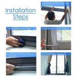 Alintor Fly Bug Mosquito Protection D'écran en Maille Filet, 2 Pièces 130 cm x 150 cm Moustiquaire pour Fenêtre avec 4 Auto-Adhésive de la marque Alintor image 3 produit