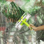 Als Ellan Lave-Vitre Racloir en Microfibre à Double Face pour Fenêtre 3 en 1 avec Tête de Pulvérisation et Rallonge pour Salle de bains, Maison, Douche, Auto(bleu) de la marque Als Ellan image 1 produit