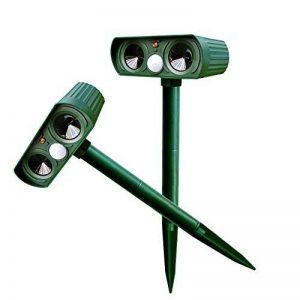 Alxcio Répulsif Ultrason Solaire avec détecteur de mouvement PIR Scare Chiens Chats Vole Mole Garden Protector (2 pièces) de la marque Alxcio image 0 produit