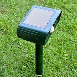 Alxcio Répulsif Ultrason Solaire avec détecteur de mouvement PIR Scare Chiens Chats Vole Mole Garden Protector (2 pièces) de la marque Alxcio image 1 produit
