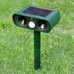 Alxcio Répulsif Ultrason Solaire avec détecteur de mouvement PIR Scare Chiens Chats Vole Mole Garden Protector (2 pièces) de la marque Alxcio image 4 produit