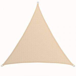 AMANKA Voile d'ombrage XXL 5x5x5m toile triangulaire de jardin pour faire ombre en PE-HD respirant perméable Crème de la marque AMANKA image 0 produit