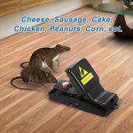 Attrape-souris appâté, Piège à souris, Rapide réponse Rapide Humain Power Rodent Killer, Souris réutilisable sensible / Attrape-piège Rat, Contrôle de la souris 100%, 6 pack (Noir) de la marque Excuty image 4 produit