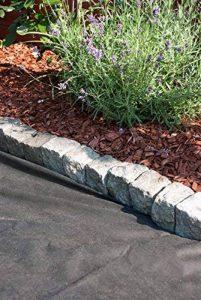 Bâche anti-mauvaises herbes en tissu non tissé pour jardin 45 gms roulé (1 x 10 m, noir) film mauvaises herbes écologique en polypropylène de la marque Green Home image 0 produit