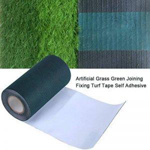 Bande artificielle de couture d'herbe, vert artificiel d'herbe de 5mx15cm se réunissant Fixant la couture auto-adhésive de tapis de pelouse de bande de gazon de la marque image 0 produit