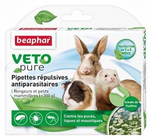 Beaphar - VETOpure, pipettes répulsives antiparasitaires - rongeurs et petits mammifères - 6 pipettes de la marque Beaphar image 0 produit