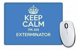 Bleu Keep Calm I'm un Exterminateur Tapis de souris Couleur 3273 de la marque Duke Gifts image 0 produit