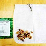 CHANVRE Sac à lait végétal Ecocasa – l'alternative écologique pour fabriquer du lait d'amandes – filtrer du jus – rincer le quinoa | INCLUS manuel et recette de la marque Ecocasa image 1 produit
