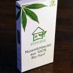 CHANVRE Sac à lait végétal Ecocasa – l'alternative écologique pour fabriquer du lait d'amandes – filtrer du jus – rincer le quinoa | INCLUS manuel et recette de la marque Ecocasa image 4 produit