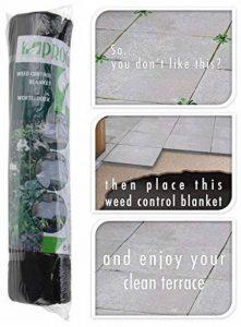 Chiffon Anti Mauvaises Herbes: 48m² tapis anti-mauvaises herbes très stable UV 4rouleaux de 8m x 1,5m = 48m² de la marque hibuy image 0 produit