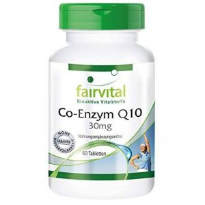 Coenzyme Q10 30mg 60 comprimés à base végétale - contre la fatigue de la marque fairvital image 0 produit