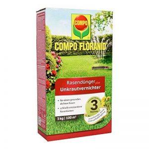 Compo Floranid Engrais à gazon avec herbicide pelouse, Entretien et mauvaises herbes Destruction en un seul produit 3 kg für 100 m² marron de la marque Compo image 0 produit
