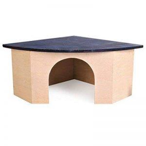 Croci Maison Angulaire en Bois avec Toit Bleu pour Petits animaux 29x13x21 cm de la marque Croci image 0 produit