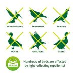 De-Bird - Bande repulsif - anti pigeon effaroucheur d oiseaux [ANTI-OISEAUX epouvantail] - pour éloigner pigeons corbeau et plus - à utiliser avec ultrason/pic/filet - 106 m de la marque De-Bird image 1 produit