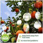 De-Bird - Disques repulsif - anti pigeon effaroucheur d oiseaux [ANTI-OISEAUX epouvantail]- pour éloigner pigeons corbeau et plus - à utiliser avec ultrason/pic/filet - Paquet de 8 de la marque De-Bird image 4 produit