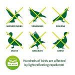 De-Bird - Disques repulsif - anti pigeon effaroucheur d oiseaux [ANTI-OISEAUX epouvantail]- pour éloigner pigeons corbeau et plus - à utiliser avec ultrason/pic/filet - Paquet de 8 de la marque De-Bird image 1 produit