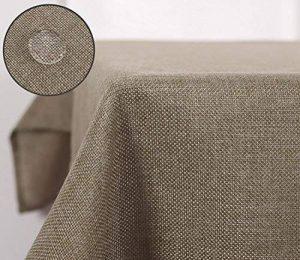 Deconovo Nappe de Tables Rectangulaire Effet Lin Anti-tâche Imperméable de Salle 130x280 cm Taupe de la marque Deconovo image 0 produit