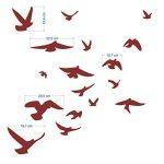Decooo.be Autocollants anti-collision pour oiseaux - Haute résistance à la pluie, gel, UV's (set de 17 silhouettes d'oiseaux Gris foncés) de la marque Decooo.be image 1 produit