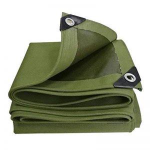 DIKA UK bâche armée de protection / Bâche feuille bâches multifonctions poncho pour camping pêche jardinage protection contre le soleil résistance au froid, épaisseur 0,7 mm, 600 g / m², 8 taille disponible, vert de la marque LAXF-Bâches image 0 produit