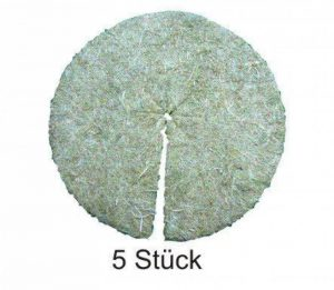 Disque de paillage en fibres de chanvre, mulch-disk, 5 pièces, diamètre : 50 cm, 10 mm d'épaisseur, tapis de protection des plantes, tapis de protection contre les mauvaises herbes, tapis de protection pour l'hiver, 100 % biodégradable, fabriqué à partir image 0 produit