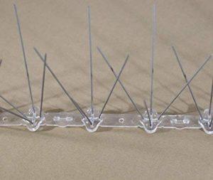 Dissuader les OISEAUX DANS LA BASE EN PLASTIQUE EN ACIER INOXYDABLE 40 broches. Longueur : 50 cm (3) de la marque FERRITALIA image 0 produit