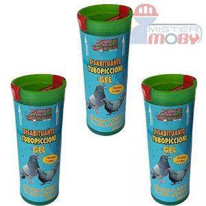 DISSUASIF REPOUSSANT PIGEONS OISEAUX TUBE GEL HYDROREPOUSSANT 3x 300ML de la marque Mister Moby image 0 produit