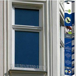 Easy Life Pic anti oiseaux en PVC 200 cm avec 60 pics en acier inoxydable résistant aux intempéries - Dispositif anti-nuisibles, anti-pigeons, anti-mouettes de la marque Easy Life image 0 produit