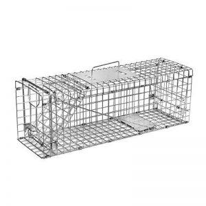 Elbe Piège à chat Piège à cage Grande Taille 80x32x29 cm Piège à rat Piège de Capture Cage piège chat Piège à renard Piège pour Animaux Sans Cruauté_MAF04 de la marque Elbe - Pets image 0 produit
