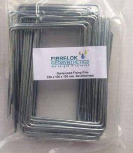 En acier au sol en métal Pinces épingles Agrafes pour mauvaises herbes membrane en tissu pour extrémité biseautée Lot de 50 de la marque Fibrelok image 0 produit