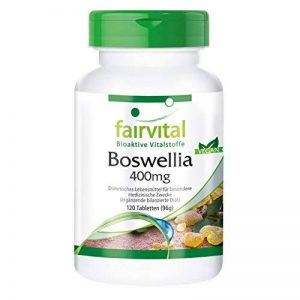 Encens Boswellia 400mg - 120 comprimés végans - Boswellia serrata avec plus de 65% d'acides boswelliques de la marque fairvital image 0 produit